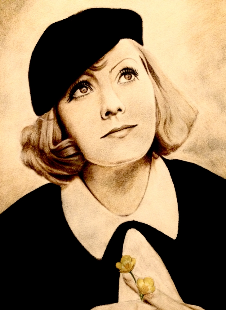 Greta Garbo by Kaskad